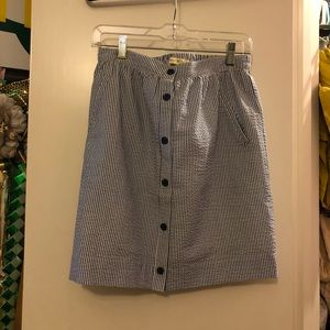 Dresses & Skirts - Pinstripe Button Skirt with Pockets